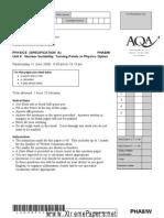 2008 Jun Questionn Paper of Edexcel Chemistry A2