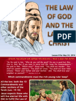 2nd Quarter 2014 Lesson 8 the Law of God and the Law of Christ