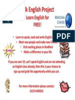 Flier for Project Learners