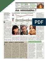 L'Avenir - Quels Carolos Ministrables - 23.05.14