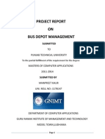 Project Report on bus Depot Mgt