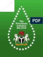 The Petroleum Industry Bill - 2012
