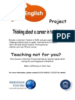 Become a Volunteer Teacher in ESOL and Gain Experience