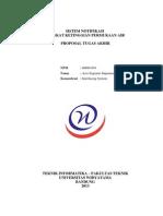Proposal - Sistem Notifikasi Tingkat Ketinggian Permukaan Air (0609u094) - Rev1