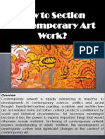 How to Section Contemporary Art Work?