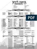 Assamite Warrior Editable Character Sheet