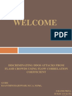 Discriminating DDOS Attacks