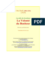 Otto Rank - Au Dela Du Freudisme - La Volonte Du Bonheur