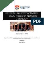 TESOL Colloquium Program 2012