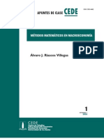 Métodos Matemáticos en Macroeconomía
