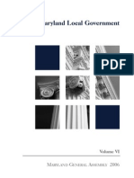 Maryland General Assembly Legislative Handbook Series - Local Government (Md Department of Legislative Services, 2006)