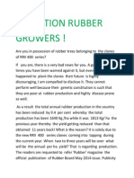 Attention Rubber Growers