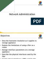 Netapp storage Network Administration