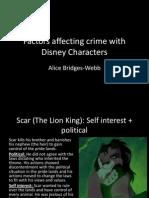 Factors Affecting Crime (Disney)