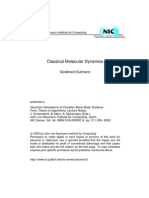 Classical Molecular Dynamics