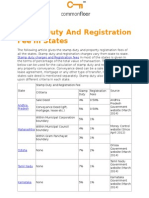 Stamp Duty and Registration Fee in States