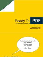 Ready to Write 10 Commandments to Kick Start Your Copy