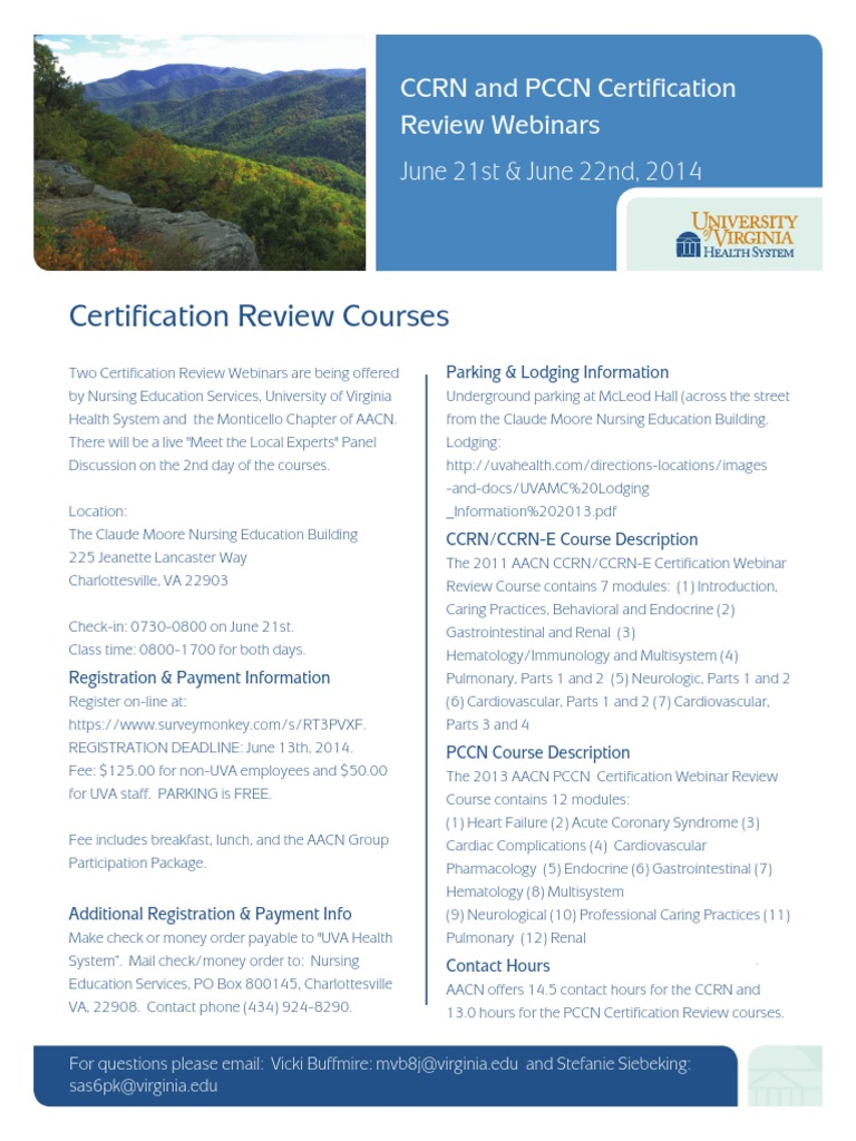 Ccrn Pccn Certification Review Webinars With Expert Panel On 6 21