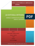Auditoria Interna. Cooperarte