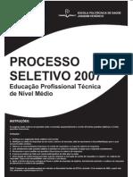 Prova Fiocruz 2007