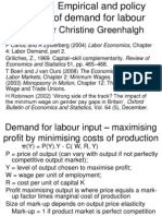 L3 Empirical and Policy Aspects of Demand for Labour