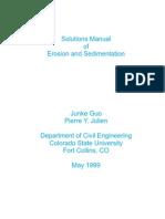 Solutions Manual of Erosion Aand Sedimentation