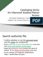 Cataloging Series