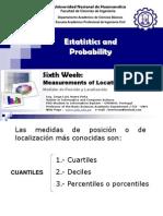 06 Statistics Week Measurements of Location y Pos
