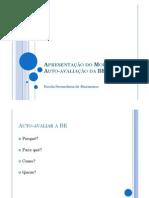 Apresentação do Modelo de Auto-avaliação da BE [Modo de Compatibilidade]