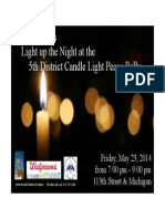 Candle Light Peace Rally #putthegunsdown