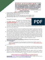 20140523-G. H .Schorel-Hlavka O.W.B. to Principal Ms Jill Laughlin, CAMBERWELL HIGH SCHOOL