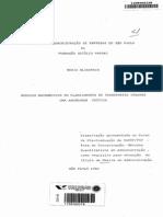 Modelos Matemáticos Para Planejamento de Transporte