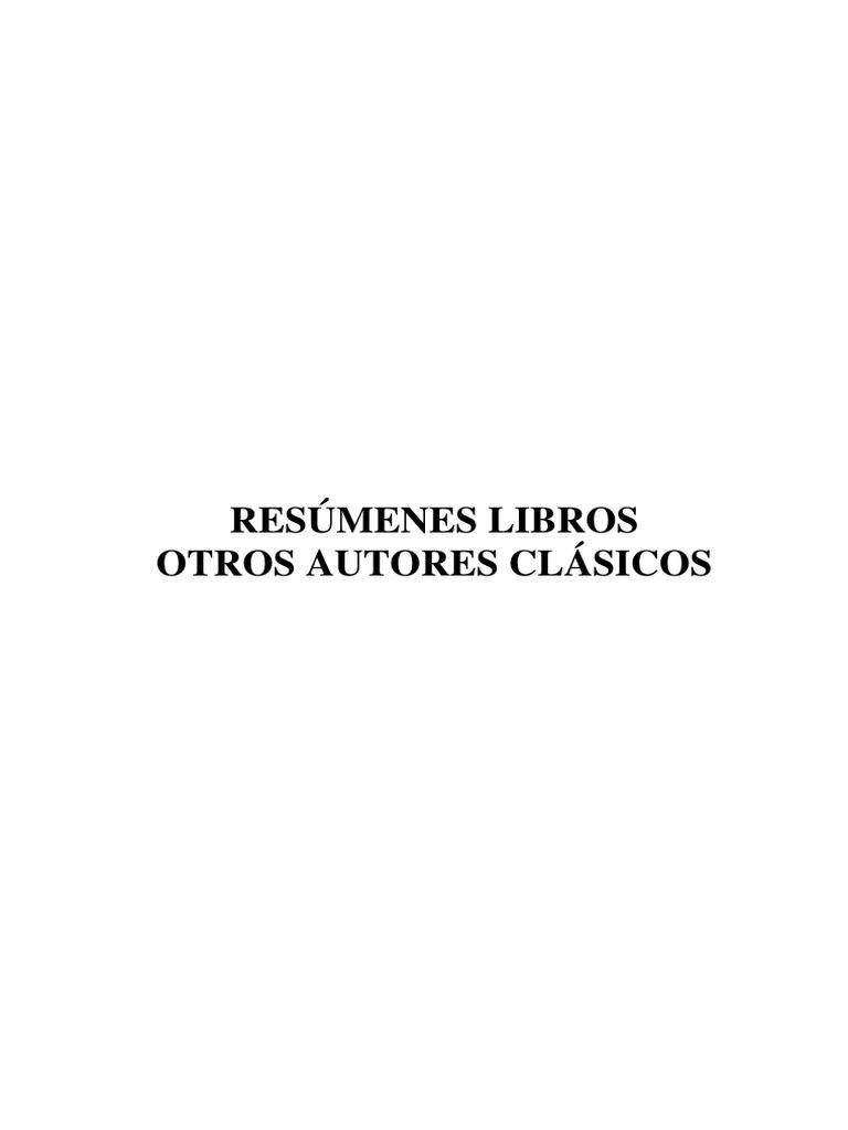 Resúmenes Libros Autores Clásicos Variados