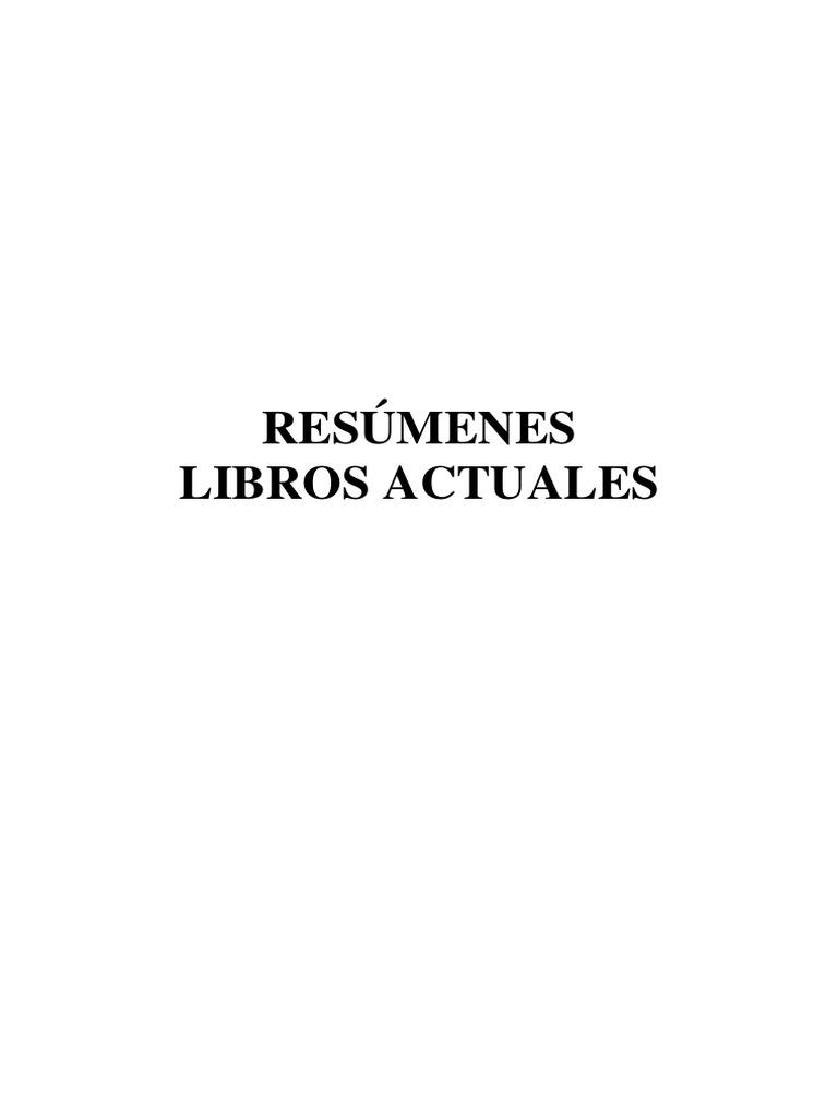 Resúmenes Libros Actuales