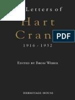 Hart Crane, Letters of Hart Crane, 1916-1932