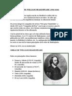 BIOGRAFÍA DE WILLIAM SHAKESPEARE