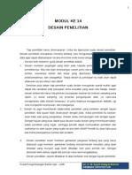 Modul 14 Desain Penelitian