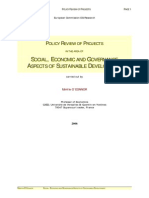 Social Economic and Governance Aspects of Sustainable Development