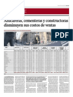Azucareras, Cementeras y Constructoras Disminuyen Costos_Gestión 23-05-2014