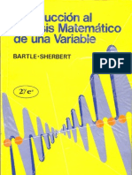 Introduccion Al Analisis Matematico de Una Variable