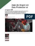 Porcentaje de Argon en Mixed Gas Protector Sí Importa