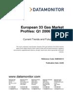 European 33 Gas Market Profiles 2006
