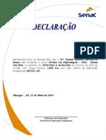Declaração de Conclusão & Cursando Manual