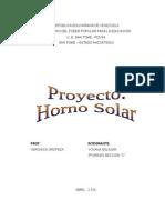 Trabajo Horno Solar