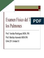 Examen Fisico de Los Pulmones