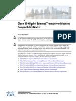 10-Gigabit Ethernet Transceiver Modules Compatibility Matrix