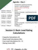 Load Rating Training Session 2