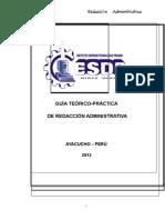 GUIA TEORICO PRACTICA DE REDACCION ADMINISTRATIVA
