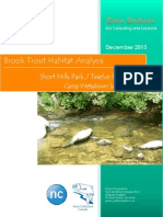 short hills park camp wetaskiwin brook trout habitat suitability analysis project proposal 2013-12-09