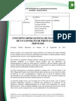 Doc. 616 Concepto 180784 Licencia de maternidad de un contrato de prestación de servicios.pdf